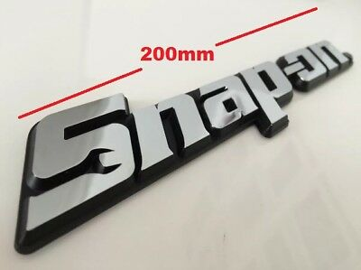 Snap-On Tools 3D Chrome Badge Tool Box Roll Cab Logo Decal Name Snap On Sticker