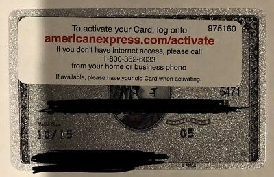 Expired American Express Platinum Card Non-Metal Edition. Never Swiped. Perfect.