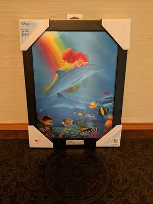 The Little Mermaid | Ariel | 3D Art | By PFF | Framed | 3-D | Lenticular Artwork