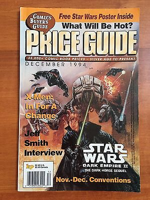 Price Guide December 1994 Comics Buyers Guide Magazine Comic Book Prices