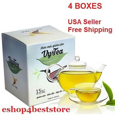 4 boxes Vy&Tea Natural Herbal Tea Help Weight Loss, And Purifying The Body