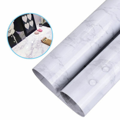2M Waterproof Marble Effect Counter Sticker Self Adhesive Wallpaper Home Decor
