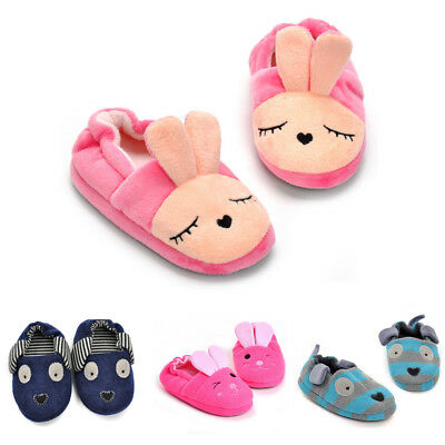 Baby Indoor Soft Anti-slip Sole Cartoon Home Slippers Winter Warm Toddler Shoes