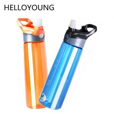 Gym Water Bottle BPA Free With Straw High Quality Leakproof Plastic Drink Bottle