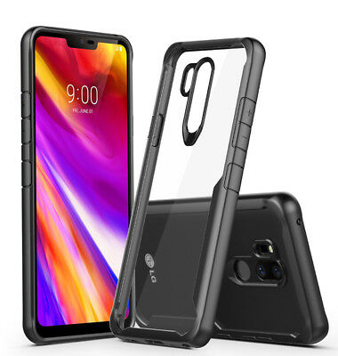 Shockproof Transparent TPU Frame Acrylic PC back Cover Case For LG G7 ThinQ V40