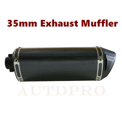Motorcycle 38mm Muffler Exhaust Pipe Silencer with Clamp 110 140cc Dirt Pit Bike