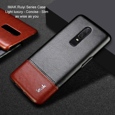 IMAK Luxury Ultra-Thin Business Leather Shockprooof Back Case For Oneplus 6