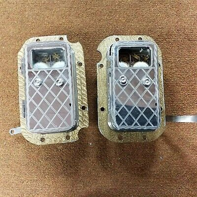 Two Antique YALE time locks safe lock (2 time locks) Sold as pair