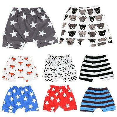 Toddler Baby Boy Girl Star Stripe Diaper Cover Pants Shorts Bottoms PP Bloomers