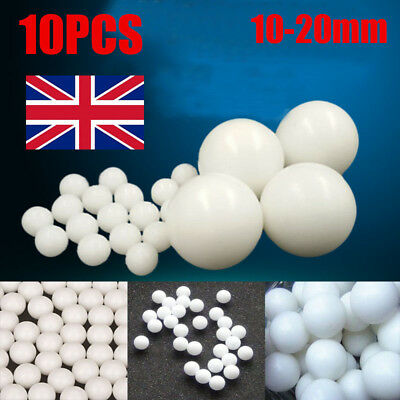 Industrial POM Plastic Balls Solid Bearing Ball Roller Beads 10-20mm UK Stock