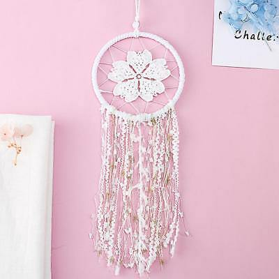 New Lace Flowers Pattern Design Dream Catcher Wind Chimes Hanging Pendant #N