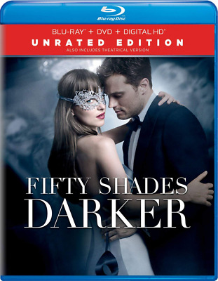 Fifty Shades Darker, Unrated Edition, Blu Ray Disc, Eric Johnson, Kim Basinger