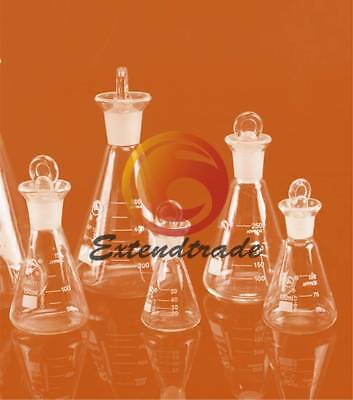 Flask Conical Bottle Lab Chemistry Glassware 0/100/150/250ML Glass Erlenmeyer
