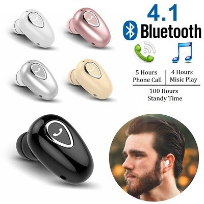 Mini Wireless Bluetooth Stereo In-Ear Headset Earphone Earbud For iPhone Samsung