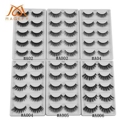 5/7 Pairs 100% Beauty 3D Mink Fake Eyelashes Natural False Lashes Makeup Tool