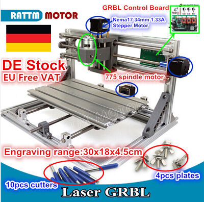 3 Axis DIY 3018 CNC Router Graviermaschine Engraver Wood Cutting Milling Machine