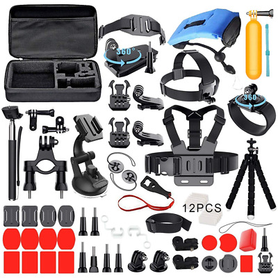 Deyard ZG-634 Accessories Kit Set with Carrying Case for GoPro Hero (2018) Fusio