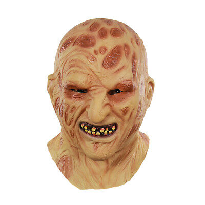 Halloween Latex Horror Verbrannt Vollgesichtsmaske Scary Zombies Kopf Maske NEU