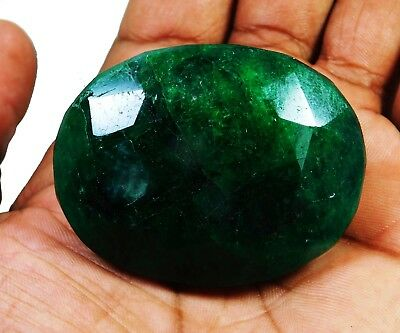 Natural 417.00 Ct Beautiful Oval Cut Colombian Emerald Loose Gemstone. 9046 m