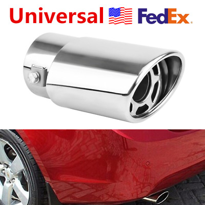 USA Universal Stainless steel Oval Car Rear Exhaust Pipe Tip Tail Muffler Cover