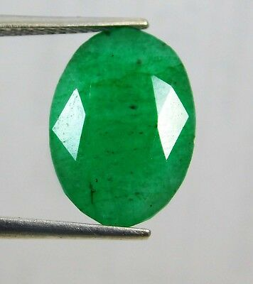 Natural 8.15 Ct Oval Cut Colombian Loose Emerald Gemstone.10736 JYUBm
