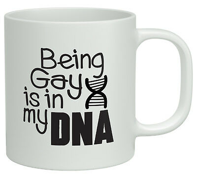 Being Gay is in my DNA White 10oz Novelty Gift Mug Cup