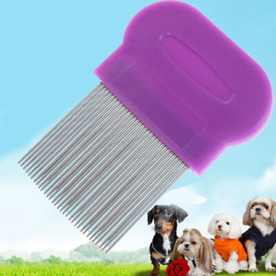 Stainless Steel Dog Cat Toothed Flea Removal Cleaning Brush Grooming Comb HT