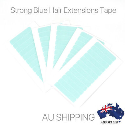 60 X Pre-Cut Double Side Super Blue Tape for Hair Extension Waterproof Adhesive