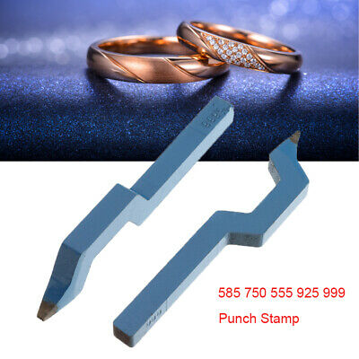 Steel Curved Stamp Punch Jewelry Ring Bracelet Marking Tool 585 750 555 925 999
