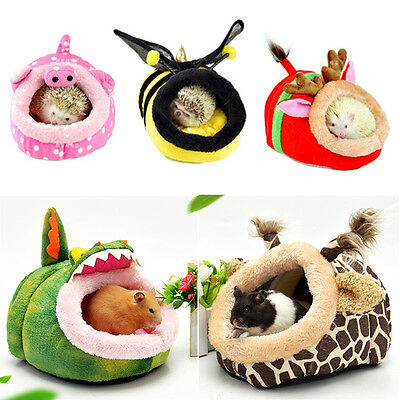 UK Warm Animal Bed Pet Hammock Hamster Rat Guinea Pig House Nest Pad For Cage
