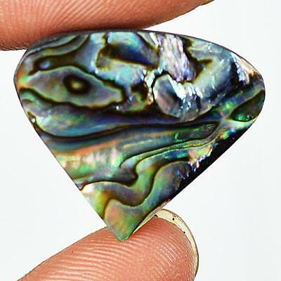 19ct 21X25mm Natural Abalone Mother of Pearl Pear Gemstone Doublet Cabochon RU43