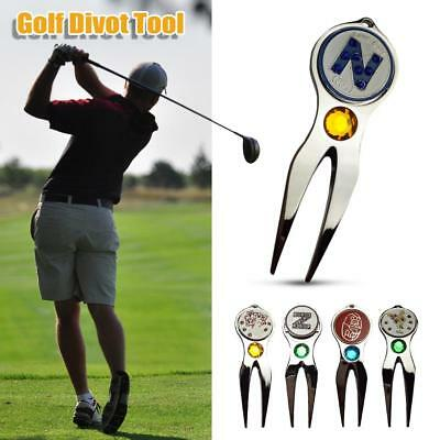 Professional Metal Golf Pitch Repair Divot Golf Ball Marker Mark Groove Cleaner