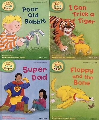 OXFORD READING Biff, Chip and Kipper Level 3 First Stories Collection 4 booksNEW