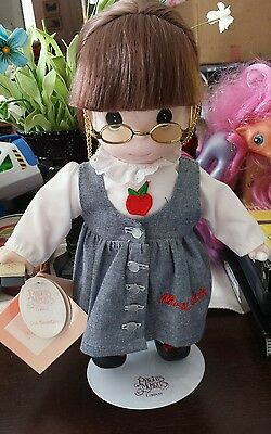 "Precious Moments Teacher Doll 1st Edition Career Series 12"" w/ Tags & Stand 1997"