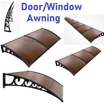 New HOME WINDOW AWNING DOOR CANOPY Outdoor Front Cover House Shade Brown