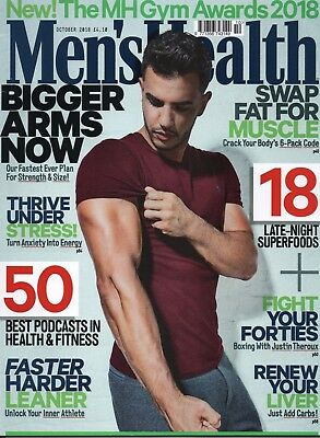 "MEN'S HEALTH OCTOBER 2018 ""Bigger arms now!""  (BRAND NEW/SEALED)"