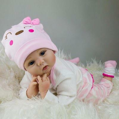 "22"" Reborn Baby Doll Lifelike Soft Realistic Real Life Doll Xmas Gift C"