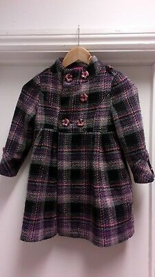 Sweet Millie Girls Winter Coat Black and Pink Age 5