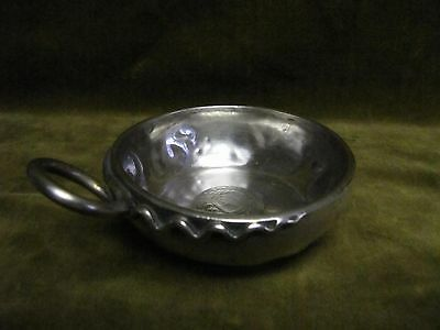 Antique french alloy silver  wine tasting cup snake handle Sardinian coin 1884