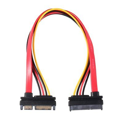 Male to Female 7+15 Pin Serial ATA SATA Data power combo extension Cable AZ