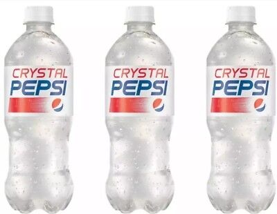 Crystal Pepsi New 3 20 oz Bottles Rare 2018 Limited Edition Expire Nov 2018