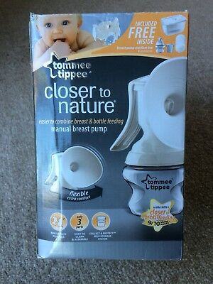 Tommee Tippee Closer To Nature Manual Breast Pump Never Used
