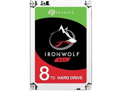"Seagate Nas 3.5"" Drive: 8tb Ironwolf Nas Hdd Sata3 6gb/ S 256mb 7200rpm St8000vn"