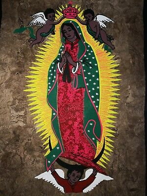 Mexican Painting Virgin Of Guadalupe Latin Native Ethnic Art Craft Home Decor