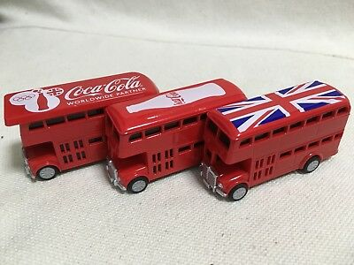 F/S London Olympic Double Decker Bus Coca Cola Novelty Set of 3 Japan
