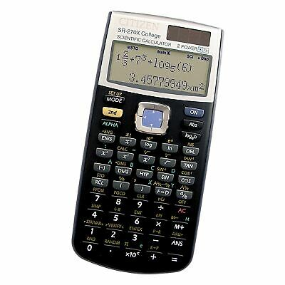 CITIZEN SR-270X Scientific Calculator College Uni Black GCSE A Levels Exam
