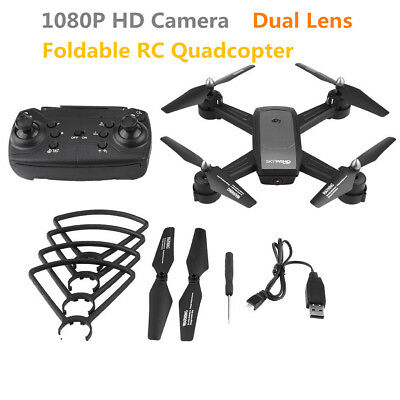 1080P HD Camera Foldable RC Drone Optical Flow Dual Lens Wifi V-sign Auto-photo