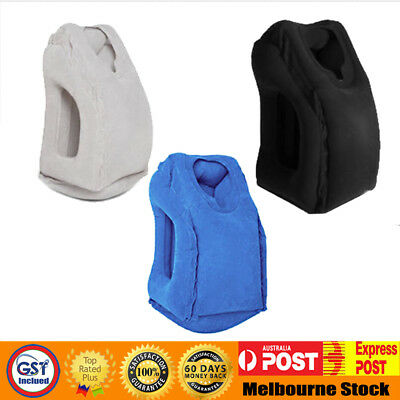 New Inflatable Air Travel Pillow Cushion Neck on flight car Soft Comfortable MEL