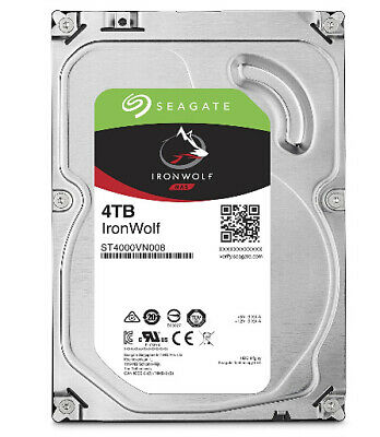 """Seagate 4tb Ironwolf Nas 5900 Rpm 64mb Cache Sata 6.0gb/ S 3.5"""" Hdd (st4000vn008"""