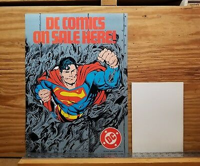 SUPERMAN MAN OF STEEL promo poster by John Byrne, unused never unfolded. 1980s.